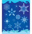 Background with decorative snowflakes vector image