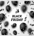 black friday poster with shiny balloons and vector image vector image