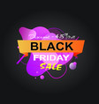 black friday price reduction banner with offer vector image