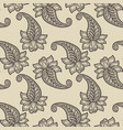 classic native paisleys seamless pattern vector image vector image