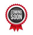 Coming Soon badge vector image vector image
