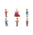 cute little boys wearing prince costumes with vector image vector image
