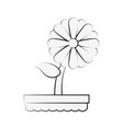 cute sunflower gardening vector image vector image