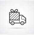 delivery flat line black icon eps10 vector image