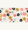 elegant seamless pattern with colorful flowers vector image