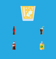 flat icon drink set of fizzy drink bottle juice vector image vector image