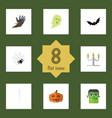 flat icon festival set of spinner gourd phantom vector image vector image