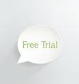 Free Trial vector image vector image