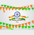 green orange flags confetti concept design vector image
