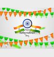 green orange flags confetti concept design vector image vector image