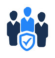 group protection icon vector image vector image