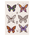 hand drawing butterfly vector image vector image