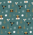 hand drawn decorative christmas seamless pattern vector image