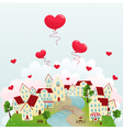 happy town vector image vector image