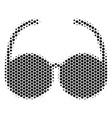 Hexagon halftone spectacles icon