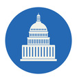 icon of united states capitol hill building vector image