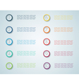 Infographic Numbered Steps 1 vector image vector image