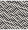 Irregular Maze Lines Seamless Black and vector image vector image