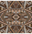 Kaleidoscope made of brown tones ethnic patchwork vector image