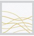 mardi gras golden or bronze color round chain vector image