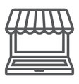 marketplace online line icon e commerce vector image vector image