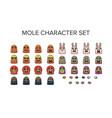 mole character set vector image vector image