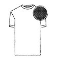 monochrome blurred silhouette of t-shirt man and vector image vector image