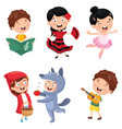 of kids art vector image