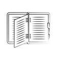 open notebook or agenda icon image vector image vector image