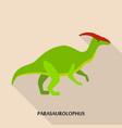 parasaurolophus icon flat style vector image vector image