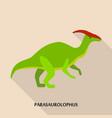 parasaurolophus icon flat style vector image vector image