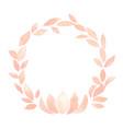 pink lotus petal madalas wreath watercolor vector image vector image
