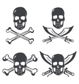 pirate flag design elements skull with bones vector image