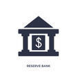 reserve bank icon on white background simple