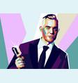 robbie williams pop art vector image vector image