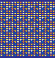 seamless abstract pattern with hearts vector image