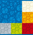 seamless foam texture in six different colors vector image