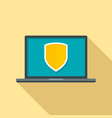 secured laptop icon flat style vector image vector image