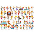 set cartoon character vector image vector image