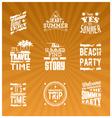 set summer logotype vector image vector image