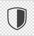 shield icon placed on transparent background vector image vector image