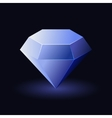 Shiny Blue Diamond vector image vector image
