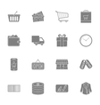 Shopping silhouettes icons set vector image