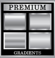 silver gradient backgrounds set design vector image vector image