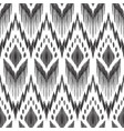 simple ikat pattern in black and white colors vector image vector image