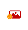 smile social network logo icon design vector image