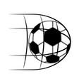 soccer ball on a net icon vector image vector image