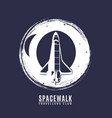space logo in retro style vector image
