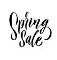 spring trendy script lettering design spring sale vector image