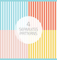 striped seamless patterns vector image